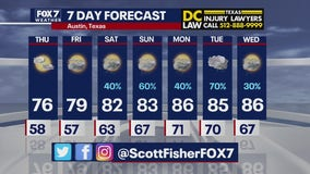 Evening weather forecast for May 12