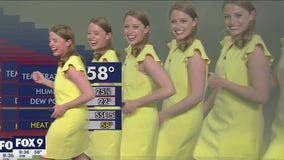 FOX 9 meteorologist multiplies on screen during graphics glitch