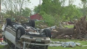 What should you do if you find yourself in a tornado?