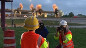 'I blew up a bridge': 6-year-old helps TxDOT demolish 183 flyover