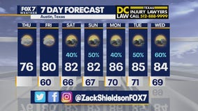 Noon weather forecast for May 13, 2021