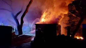 """AFD responds to """"fully ablaze"""" home under renovation in NW Austin"""
