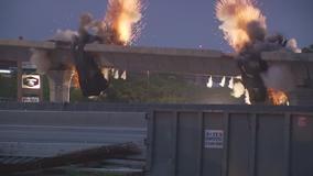 VIDEO: TXDOT implodes northbound I-35 to northbound 183 flyover