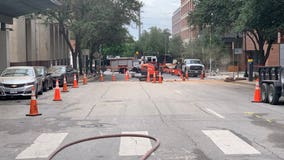Gas line struck in downtown Austin to cause lengthy service delays