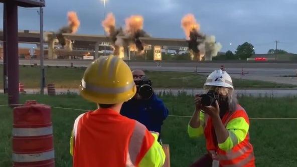 'I blew up a bridge': 6-year-old helps TxDOT demolish 183 flyover
