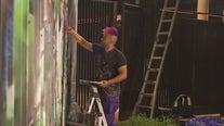 Austin FC commission local artist to paint mural on Q2 Stadium