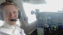 Pilot trying to be youngest to fly solo around world makes pit stop in Georgetown
