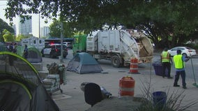 Seven arrested at City Hall homeless camp cleanup