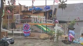 Photos: Gardener experiencing homelessness builds 'Hillside Estate' near freeway