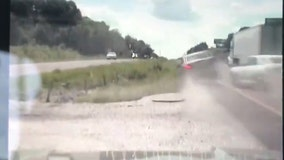 Impaired driver almost hits state trooper on Missouri interstate, flips over