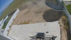 Video: Dust devil flips, breaks trampoline in Utah