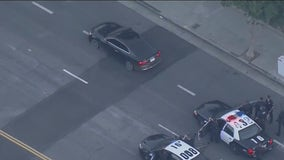 Suspect arrested after leading LAPD on lengthy chase, standoff in San Fernando Valley