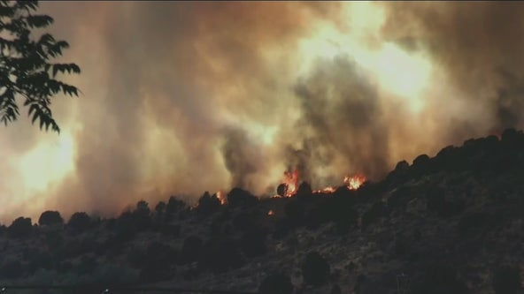 Wildfires breakout in the Western U.S. due to hot, dry weather