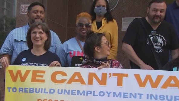 Austin protestors march at capitol for unemployment insurance reform