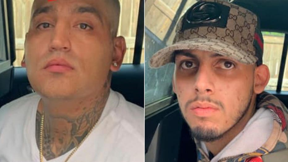 Jaime Trevino, 39, and Adrian Guillen, 19, were arrested Friday just hours after they allegedly broke into a woman's house and held her at gunpoint while ransacking her house.