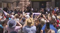 27 mile Moral March for Democracy ends with rally at Texas Capitol