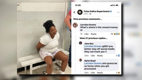 Woman arrested after commenting on police Facebook post about her, authorities say