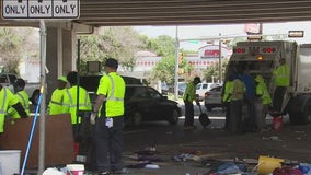 City cleans up large South Austin homeless encampment