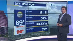 Noon weather forecast for July 23, 2021
