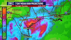Rain possible through weekend due to low pressure system