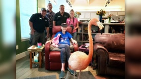 San Antonio Zoo surprises terminally ill Austin resident with flamingo