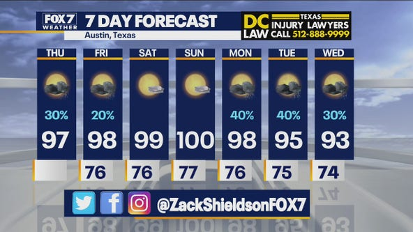 Noon weather forecast for July 29, 2021