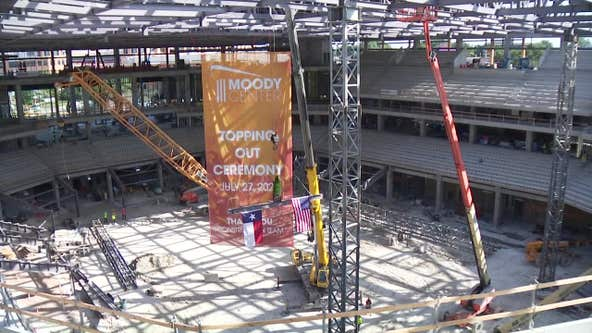 Final beam placed at Moody Center