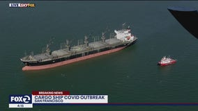 Cargo ship anchored in San Francisco Bay after crew members test positive for COVID