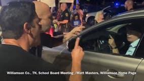 Anti-mask crowd hurls threats after Tennessee school board mandates masks