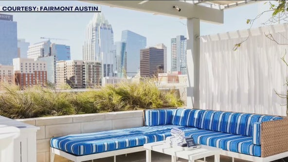 Cool off in the Fairmont Austin's rooftop pool this summer