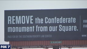 Billboard in Georgetown pushing to have Confederate monument removed