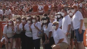 Healthcare workers honored at Texas Longhorns football home opener