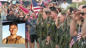 Community gathers in honor of fallen Marine Cpl. Hunter Lopez killed in Afghanistan bombing attack