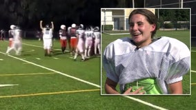Riverview teen becomes first female to score touchdown in Florida high school football game