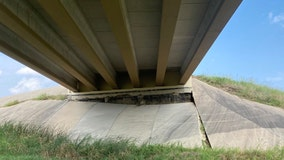 Concerns about damage to SH 45 bridge near 183 Frontage Road