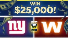 New York Giants vs. Washington: Win $25,000 for free with FOX Super 6