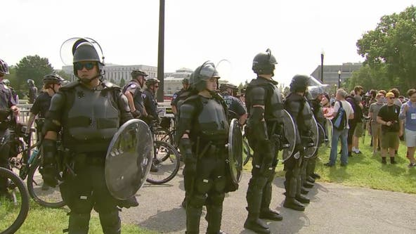 '100 to 200' Justice for J6 protesters met with significant police presence on Capitol Hill