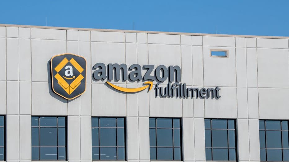 Amazon fulfillment center, the second largest private employer in the United States and one of the world's most valuable companies, Shakopee, Minnesota.