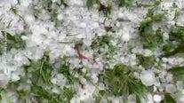Freak storm dumps giant hail on Australia