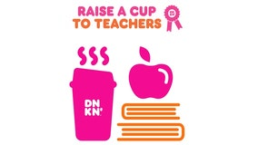 Dunkin' sweepstakes to award one Texas teacher free coffee for a year