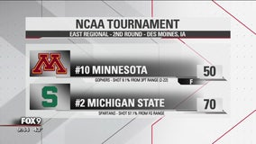 Minnesota Gophers fall to Michigan State 70-50 at NCAA Tournament