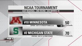Minnesota Gophers fall to Michigan State 70-50 at NCAA Tournament