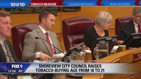 Shoreview votes to raise legal smoking age