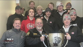 St. Cloud State University hockey team stranded in blizzard