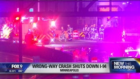 'Wrong-way' crash closed I-94 in Minneapolis