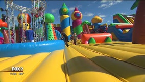 Jumping around at the Big Bounce America