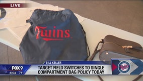 Target Field switching to single-compartment bag policy Friday