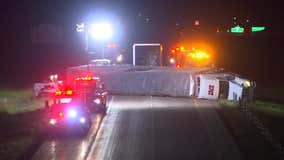 Semi rollover closes WB I-694 in White Bear Lake for over 5 hours