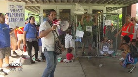 8 arrested in child separation protest in Minnesota