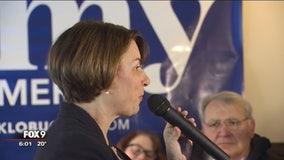 Klobuchar makes campaign stops in Wisconsin, Iowa